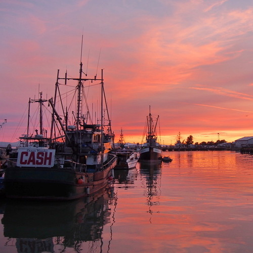 Steveston Fishing Village. <br/> The flame of the sunset